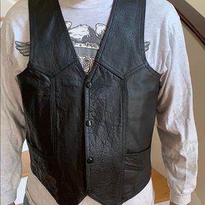 Unisex leather vest